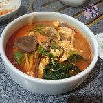 炭火焼肉・韓国家庭料理 ソナム - 「ユッケジャンクッパ」 1,058円