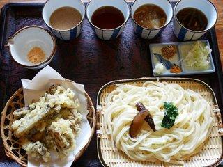 水沢うどん 松島屋 - 竹セット+舞茸天ぷらに変更