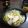 そば処 小花 - 料理写真:鴨南蛮そば、瓶ビール