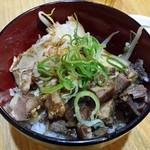てっぺん - セットの焼肉丼250円(税込)