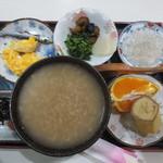 茶房本社 - 朝定食 茶粥 (ドリンク付き) 500円