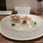 かわ村 - 2015.05再訪:antipasto 鮮魚の前菜盛☆
