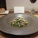 かわ村 - 2015.05再訪:pasta 稚鮎と山菜のキターラ☆