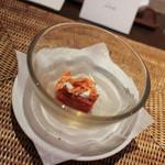かわ村 - 2015.05再訪:stzucchino フルーツトマトの葛豆腐☆