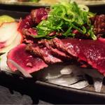 37785514 - クジラの藁焼き。藁とクジラの味が合うんだな。