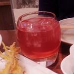 久茂地の穴 - 紅イモ梅酒290円