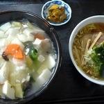 チャイナクック酔仙楼 - エビと豆腐の塩味丼、ミニラーメン付き