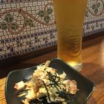 又べゑ - 生ビール500円お通し300円