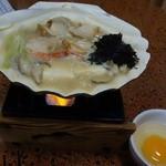 京華 - 帆立味噌貝焼800円