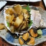 京華 - 料理写真:青つぶ刺し450円