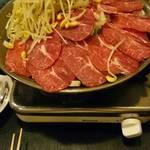 37797932 - てっちゃん鍋+豚バラ