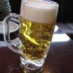 焼肉 ぐろーばる - 昼間っから飲むビール♪