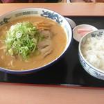てしお温泉 夕映 レストラン - 味噌ラーメン