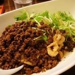 四川担担麺 阿吽 - つゆ無し担々麺(麺少な目)