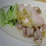 幸菜福耳 - 蒸し鶏の葱生姜ソース