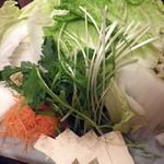 You禅 - しゃぶしゃぶ野菜(450円×2)