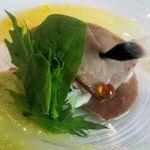the soup - 南マグロとズワイ蟹のミルフィーユ仕立て 2015.5