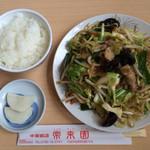 常来園 - 焼そば定食+焼き餃子付き         ¥850(税込)