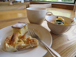 ごちそうキッチン 畑のはる - スイーツ&カボチャ入り茶碗蒸し&コーヒー