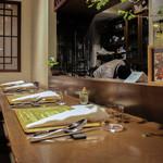 かわ村 - 2015.05再訪:カウンター席にて☆