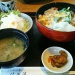 37814871 - かつ丼(サラダ・味噌汁付)1080円