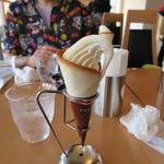 石のカフェ - ソフトクリーム500円也