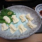 蕎麦 ひびき庵 - 「生ゆば刺」