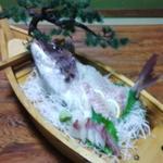民宿厚浜 - 料理写真:料理1 夕食 舟盛り