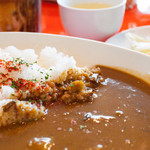 クレプスキュール・カフェ - カレーランチ(ビーフカレー・サラダ・スープ・アイスコーヒー):750円
