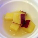 3丁目カフェ - 小皿2:さつまいものレモン煮