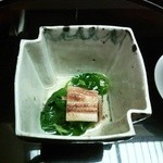 37823104 - 前菜:穴子とよめなの焼浸し