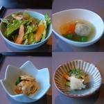 和助 - サラダ、つくね煮、鶏南蛮、漬物
