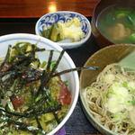 一葉亭 - 2012/11/03 お昼訪問 まぐろのづけ丼(冷そば付)\1,100