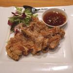 南国酒家 - 鶏もも肉のカリカリ揚げ 香味ソース (2015/04)
