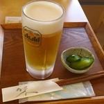 元気茶屋 - 料理写真:2012/09/10 12:10頃訪問 生ビール