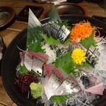 九州 熱中屋 - 活きサバ刺し。美味!