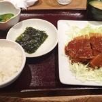 すじ平 - 日替わりランチ(トンカツ)750円♪