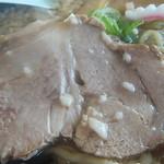 中華そば つけ麺 久兵衛 - チャーシューのドアップ(2015.5.11)