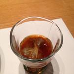 山水閣 別邸 回 - お凌ぎ:生しらすの生姜醤油掛け