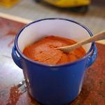 大松屋 - カウンターの辛味噌