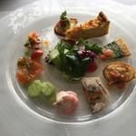 アン テラス - ランチ。 前菜の盛り合わせ