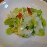 菜食 左ェ門 - 筍とそら豆入りサラダ