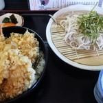 そば切りすず庵 - 料理写真:天丼セット(ランチ)