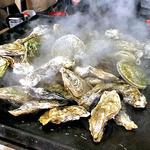 37851531 - 焼き牡蠣 & 焼きホタテ(焼き上がり)