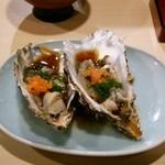 北海道 知床漁場 - 生牡蠣ポン酢