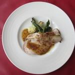 ル・ボン・ヴィボン - 庄内三元豚の低温長時間ロースト 焼き汁(ジュ)と蜂蜜、マスタードのソース