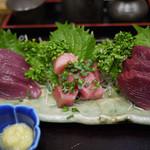 吉志久 - 料理写真:春カツオと生マグロの刺身定食~☆