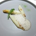 37854555 - ロワール産ホワイトアスパラガス シャンピニヨンのエスプーマ