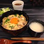 37854607 - 蕎麦猪口位のおおきさでスープ付き 800円(税込)