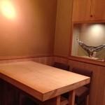 鮨 とかみ - ほぼ使われていないテーブル席!